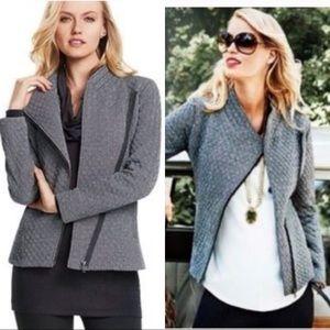 Cabi Women's Jacket Asymmetrical Zip Gray, SZ : L